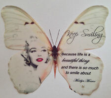 Red Lipstick Marilyn Monroe Quote Print Butterfly + 3D Wall Decal