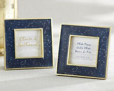 Navy Blue Gold Stars Constellation Small Photo Frame Wedding Favor Gift Q36835
