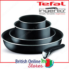 Tefal Ingenio Essential 5 Piece Cookware Starter Kit, Black