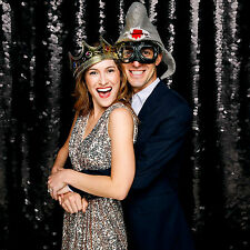 Sequin Fabric Photography Backdrop Black Sequin Backdrop for Wedding 7ft x7ft.