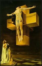 A3 Poster - Salvador Dali Crucifixion Hypercube (Picture Christ Painting Art)