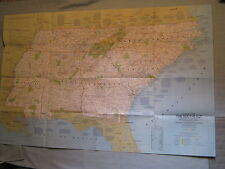 VINTAGE THE SOUTHEAST U.S. MAP TN NC SC GA AL MS National Geographic 1975 MINT
