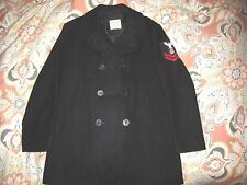 Vtg Post Vietnam Era 8 Button 100% Wool US Navy Pea coat Size 44 L Men's XL USA