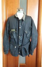 barbour A7 INTERNATIONAL JACKET C48/122CM  WAXED COTTON BLU NAVY  OTTIMO