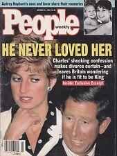 PEOPLE (magazine) October 31, 1994 -- Charles & Diana, Audrey Hepburn, Cruise