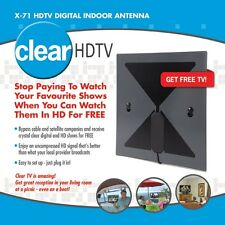 HD Clear TV - FREE HDTV - Flat Digital Indoor Antenna (VHF UHF 1080p) USA - NEW