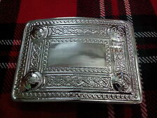 T C Kilt Belt Buckle Thistle 4 Dome Mirror Design/Celtic Design Kilt Belt Buckle