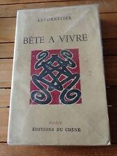 Bête à vivre par Leforestier / Roman Normandie Manche Coutances St Lô Ed. 1946