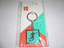 London 2012 Olympic Pictogram of Football - Metal Keychain Souvenir Gift