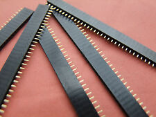 14 PCS Copper 50 Pin Gold Plated 1.27MM Single Row Straight Female Pin Header