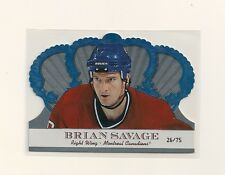 2000-01 Pacific Crown Royale Ice Blue #57 Brian Savage 26/75