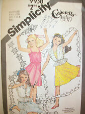 ~VTG Simplicity CINDERELLA Girls Sundress Jacket Pattern 9938 s7-8~