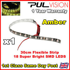 LED Car Strip Under Light Neon Footwell 30cm Flexible - SUPER BRIGHT 18 5050 SMD