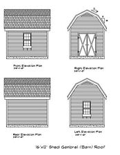 SHED PLANS 12'X10' DRAWINGS BLUEPRINTS SHED 10'X12' WORKSHOP STORAGE SHD1210