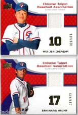 Wei-Jen Cheng 2008 Upper Deck USA Team Chinese Taipei Game Used Jersey #20/479