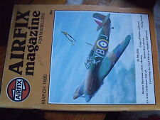 $$ Revue Airflix magazine March 1980 Hawker hurricane  US Army  Brown Bess  Opel