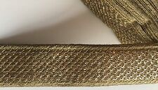 9 Meters of Attractive Handcrafted Indian Cutwork Lace Trim Sequin Ribbon