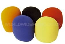 Pack of 5 Coloured Foam Microphone WINDSHIELDS - Fits most microphones