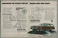 1977 PONTIAC GRAND SAFARI wagon 2-page advertisement, Pontiac wagon ad