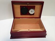 Don Salvatore Secret Slide Locking 1476 Humidor with Hygrometer & Humidifier