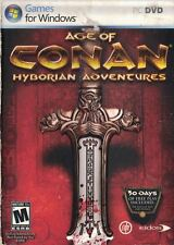 Age of Conan Hyborian Adventures PC DVD-Rom, 2008 Rated M 17+ Action Adventure