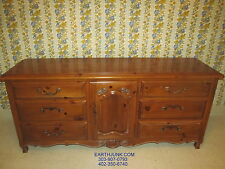 Ethan Allen Chateau Normandy Triple Dresser 17 5013 Pine Wood Country French
