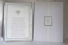 Personalised Wedding Poem to Daughter/Son On her/his Wedding Day Boxed