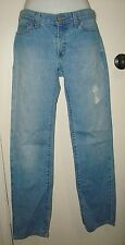 Vtg Gap Straight Leg Blue Torn Jeans Pants Sz 0 R W 29 I 31