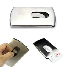 New Wallet Business Stainless Steel Name Credit ID Card Holder Pocket Case GS