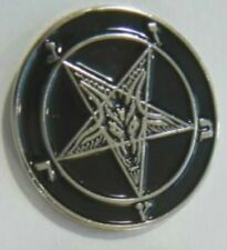 Medieval Pentagram Secret Occult Satanic Baphomet Zodiac Devil Worship Goat Pin