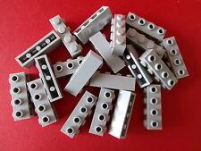 LEGO  20 Bausteine / Konverter mit 4 Noppen / Löcher 30414 hellgrau 1x4 Nop. NEU