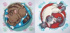 Bien fatigué et bien nourri-lot de 2 cat cross stitch charts par vanessa wells