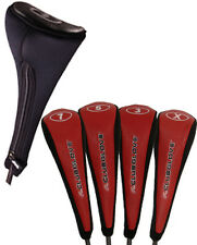 Club Glove Fairway Wood Cover Headcover Set (4) - Red