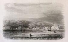 Valparaiso Chili lithographie 1857 Rouargue XIXe Amérique du Sud South America