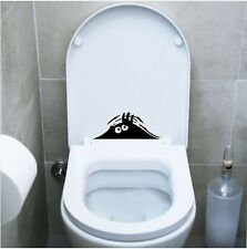 wall stickers adesivo wc funny monster pub locali bagno water toilette discoteca