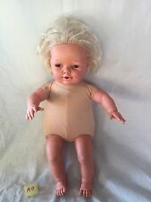 "Vintage Hush Little Baby Doll by Tonka 23"" Tall 1990 For Parts Or Repair"