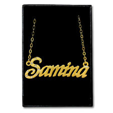 Gold Plated Name Necklace - SAMINA - Gift Ideas For Her - Anniversary Pendant