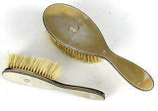 2pc Set Andre & Lucien Dupont French .950 Silver Vanity Hand Brushes, c1940