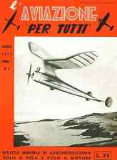 MODELLISMO AEREO Rivista Aviazione per Tutti 1945 COMPLETA - DVD