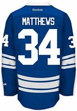 Large Auston Matthews #34 Toronto Maple Leafs NHL Hockey Replica Jersey Blue
