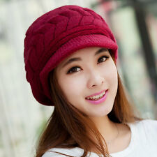 Fashion Women Winter Warm Knitted Crochet Ski Hat Slouch Baggy Beanie Cap Beret
