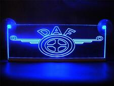 DAF LOGO ENGRAVED ILLUMINATING BLUE NEON PLATES LED 24 Volts.