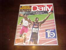 1996 Sports Illustrated Olympic Daily Program Track and Field Michael Johnson