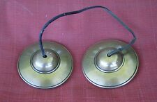NEW Master Quality Tibetan Tingsha Cymbals Large PLAIN w/ Mantra Carvings