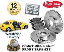 FOR MAZDA RX8 1.3i  2002-2012 303mm FRONT BRAKE DISCS SET & DISC PADS KIT