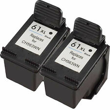 2pk 61XL CH563WN Black Ink Cartridge for HP 61XL DeskJet 1055 2050 3050 Printer