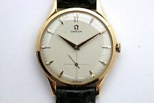 Vintage genuine OMEGA men's 18K gold watch fully revised