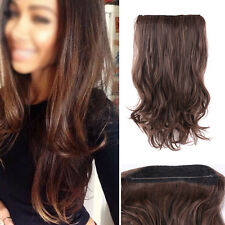 "20"" Dark Brown One Piece Flip In Secret Miracle Wire Hair Extensions Synthetic"