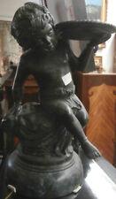 Coppia di putti in bronzo con porta oggetti