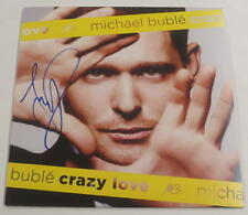 MICHAEL BUBLE CRAZY LOVE SIGNED VINYL ALBUM LP AUTHENTIC AUTOGRAPH PSA/DNA COA